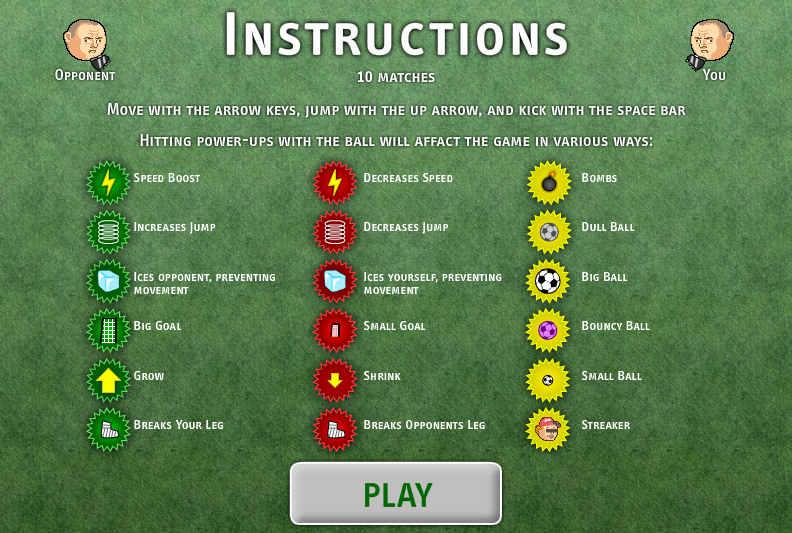 Играть в футбол игры бесплатно на двоих